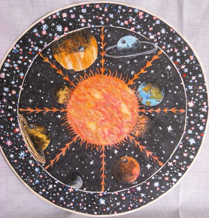 Our solar system Mandala
